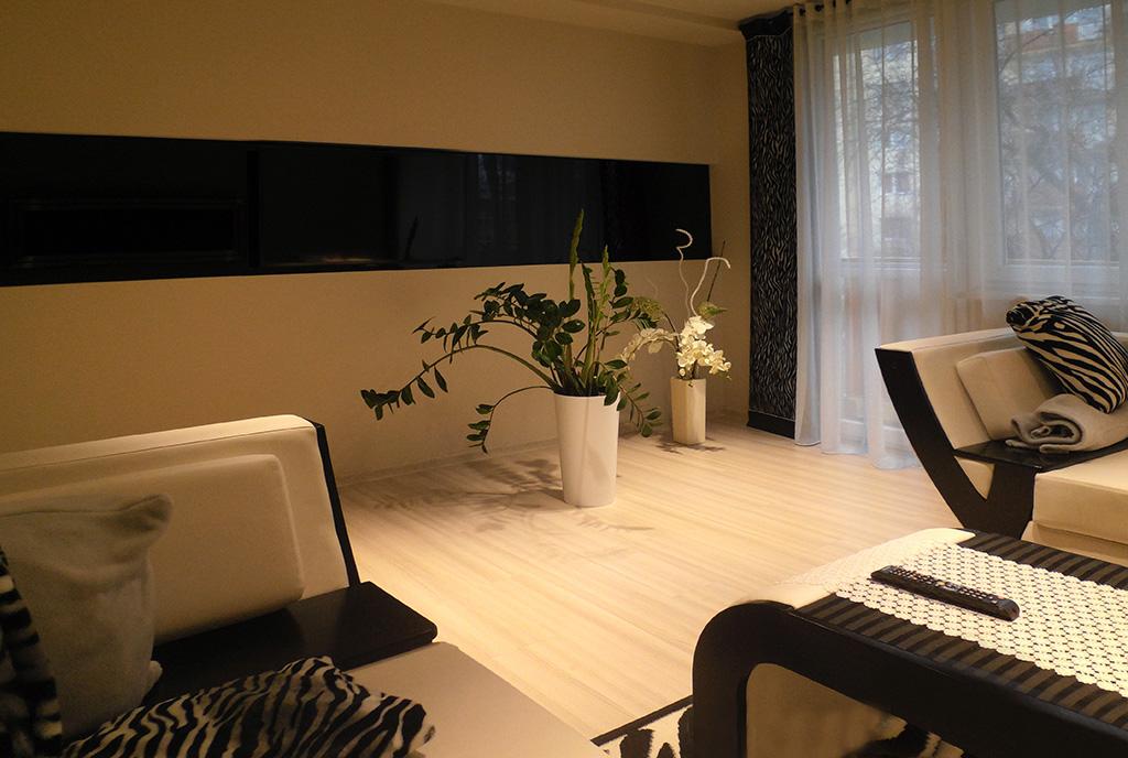 przeciwległa strona salonu w luksusowym apartamencie do wynajmu Częstochowa