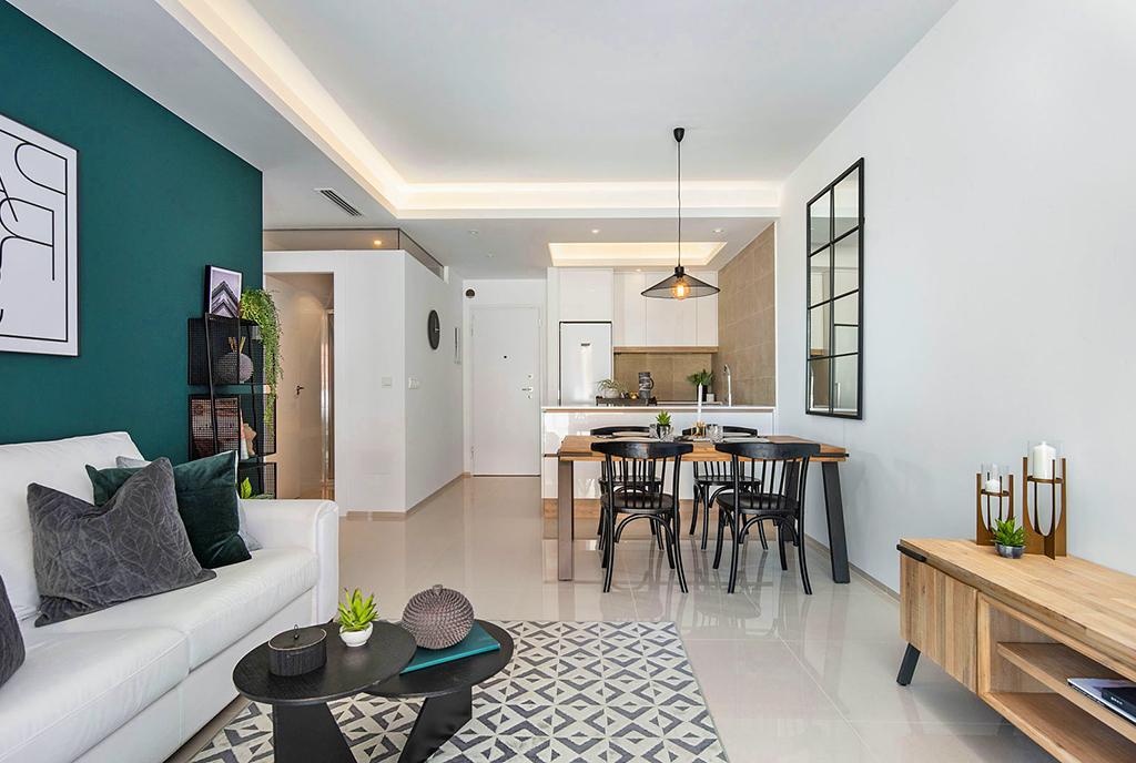 nobilitujące i gustownie zaaranżowane wnętrze luksusowego apartamentu na sprzedaż Hiszpania