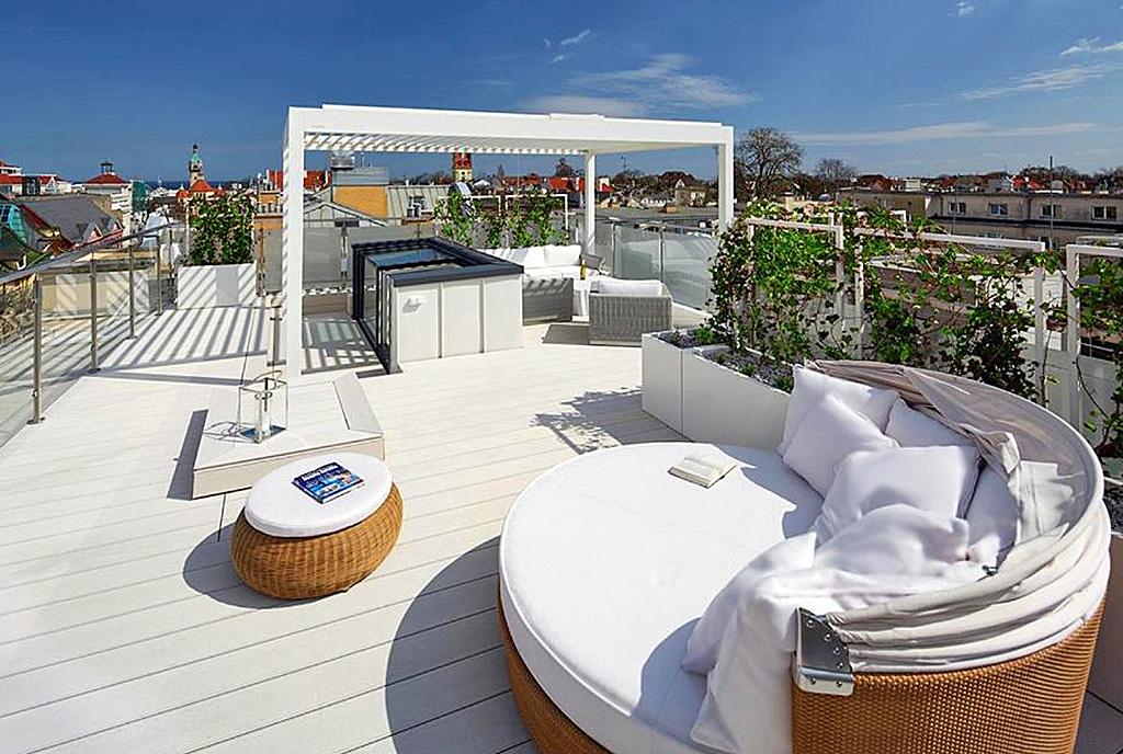 luksusowy taras przy ekskluzywnym apartamencie do sprzedaży Świdnica