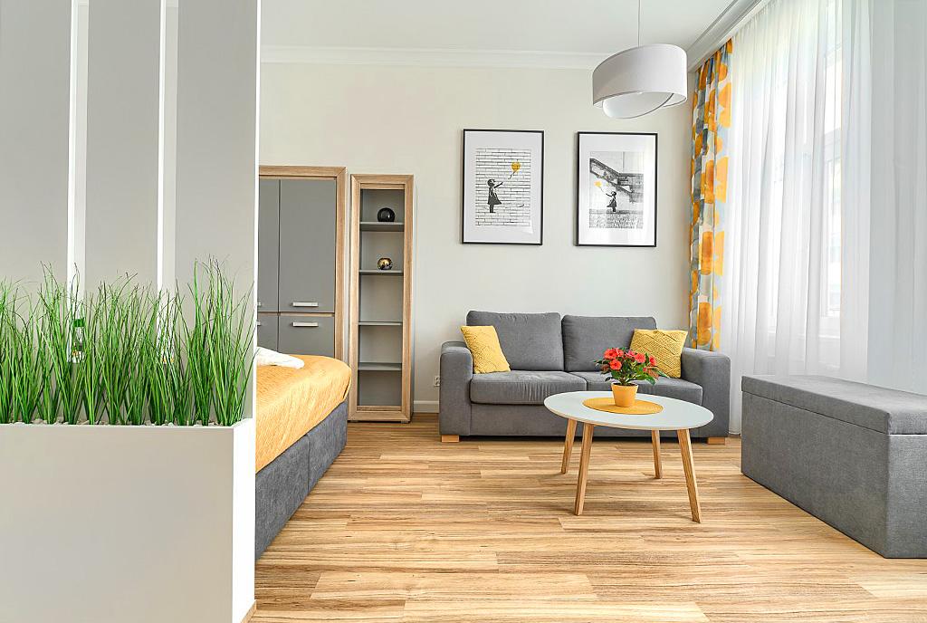 zaprojektowane zgodnie z najnowszymi trendami wnętrze ekskluzywnego apartamentu do wynajęcia Szczecin