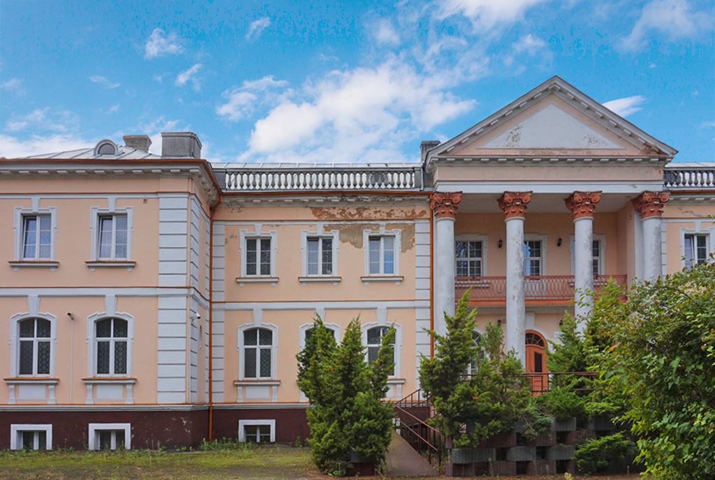 przestronne wejście do luksusowego pałacu do sprzedaży Wielkopolska